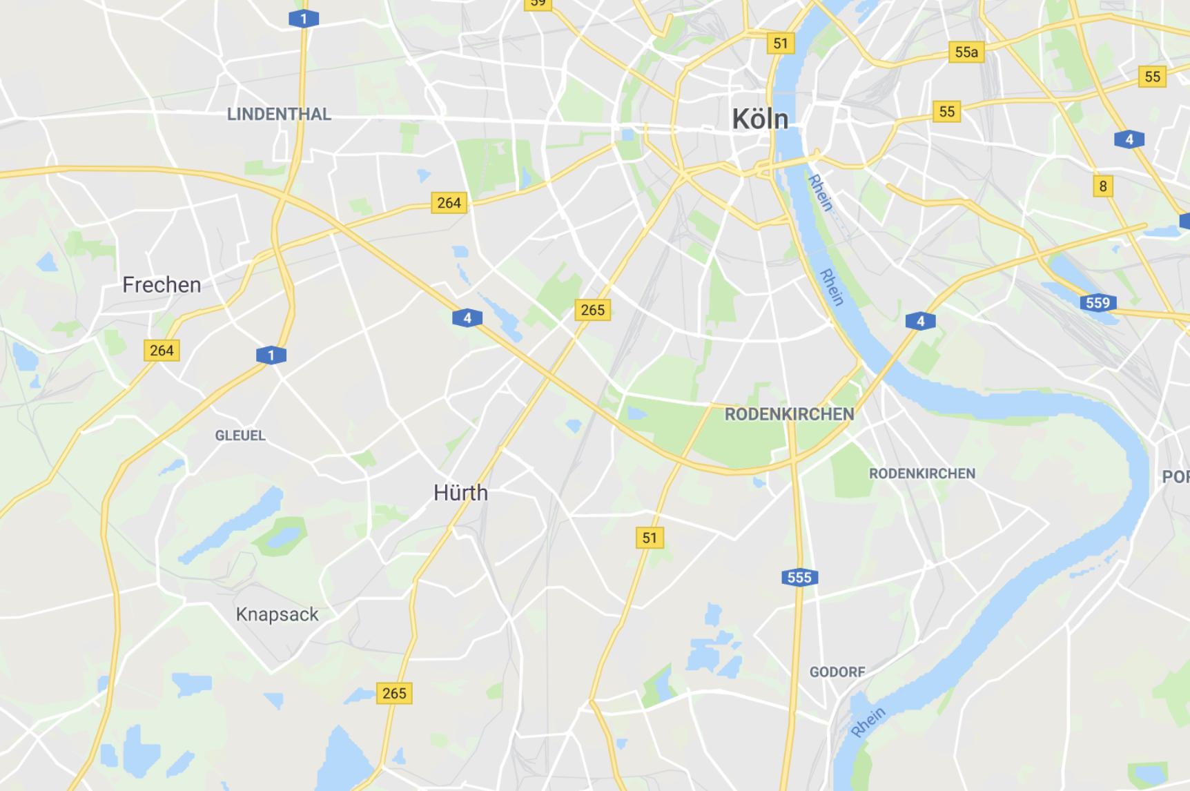 Google Maps Ansicht der Firma Weisser Sicherheit